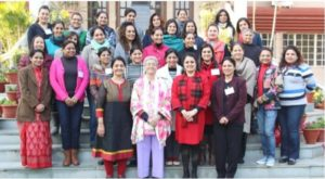 Neelima Mhaskar & Zarin Malva with the students of the course