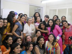 Zarin Aunty and Suneeta Aunty with the students