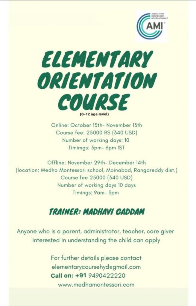 Elementary Orientation Course