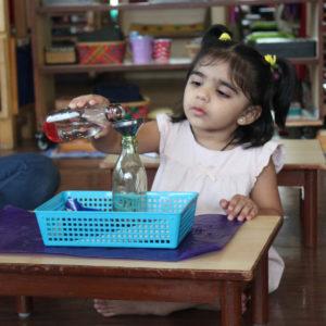 Montessori School Mumbai - Practical Life Pouring